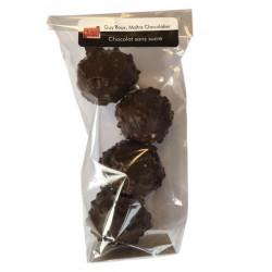 Rochers - chocolat noir, praliné noir