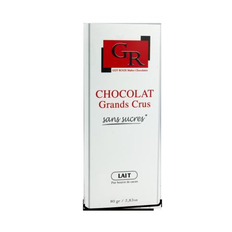 Tablette de chocolat au lait 43 % sans sucre – Fleur de sel