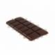 Tablette de chocolat noir 72 % sans sucre